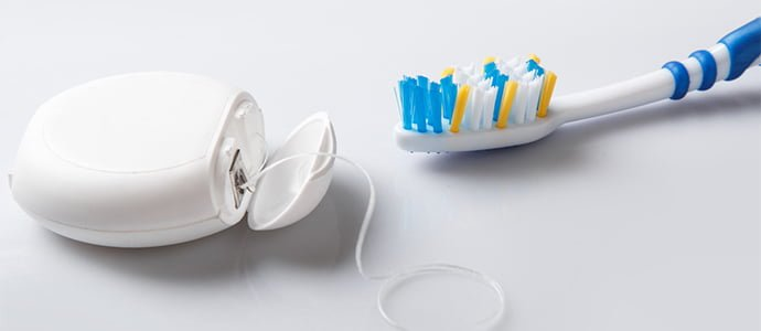 toothbrush and floss