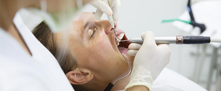man having root canal treatment