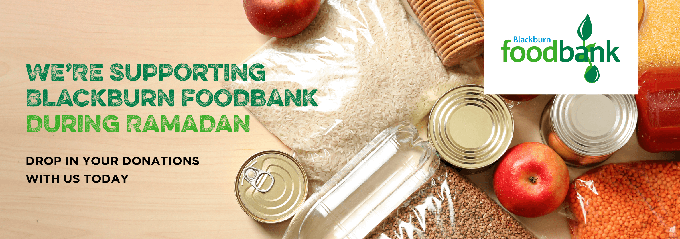 We're Supporting Blackburn Foodbank